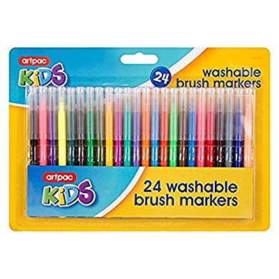30 Washable Brush Markers Drawing Paint Pens Kids Childrens Children Art by ITP