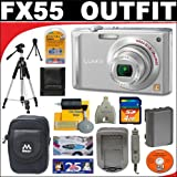 Panasonic Lumix DMC-FX55S 8.1MP Digital Camera with 4GB SD Card + Deluxe DB ROTH Accessory Kit For Sale