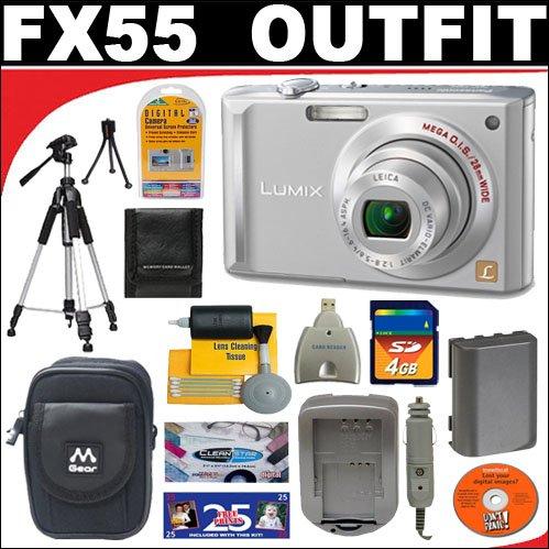 Panasonic Lumix DMC-FX55S 8.1MP Digital Camera with 4GB SD Card + Deluxe DB ROTH Accessory Kit