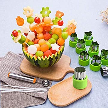 Lantusi Stainless Steel Cake Decorating Fondant Vegetable Fruit Cutter Mold Cookie Cutters