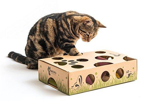 Cat increíble - Mejor Interactivo Gato Juguete Nunca. Treat Maze & Puzzle comedero para Gatos: Amazon.es: Productos para mascotas