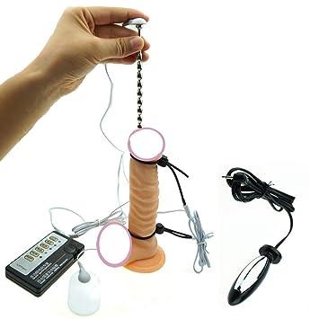 Kinxor Accesorios de estimulación E-Stim Anillos de pene eléctricos Kit de pene de Acero