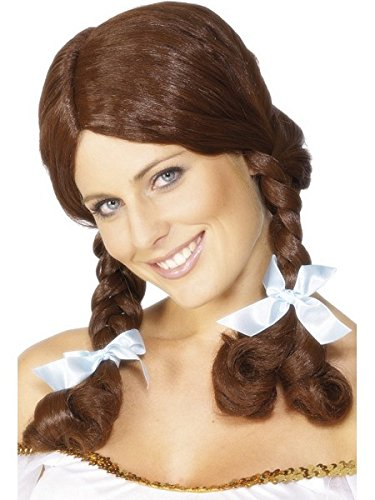 [Smiffy's Women's Country Girl Wig Plaited, Brown, One Size] (Country Girl Halloween Costumes)