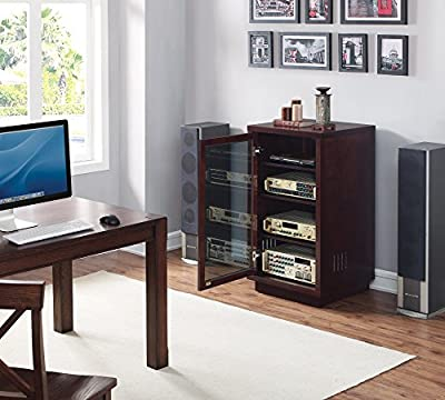 Bell'O ATC402 Audio Video Component Cabinet, Dark Espresso