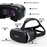 Cheap 3D VR Glasses VR Headset for 3D Games and Videos – Virtual Reality Headset with Prepositive Radiator for iPhone,Samsung and Other more Smartphones-VR SHINECON