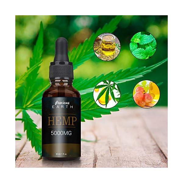 Precious Earth Hemp Oil, Premium Organic, Made in USA (25%)