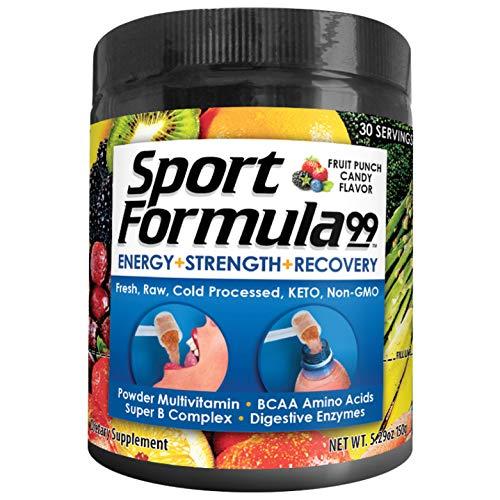 Vitamin Powder Liquid Multivitamin Powder Drink Mix for Men Women BCAA Amino Acids Wont Upset Your Stomach Optimize Keto Vegan Multivitamin Fruit Flavor Electrolytes Super B Complex Digestive Enzyme