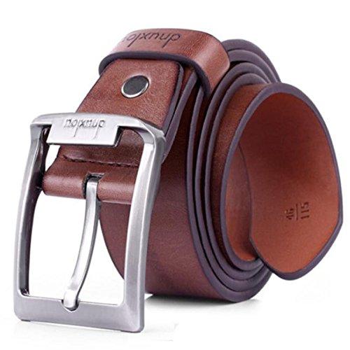 Pelle Alta Nuova Metallo Marrone Commercio Unico Mens Casual Qualità Buck Cinghia Polo Di Abbigliamento FEExT6qrw