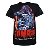 Rob Zombie Men's Rock And Roll In a Black Hole T-Shirt Black M
