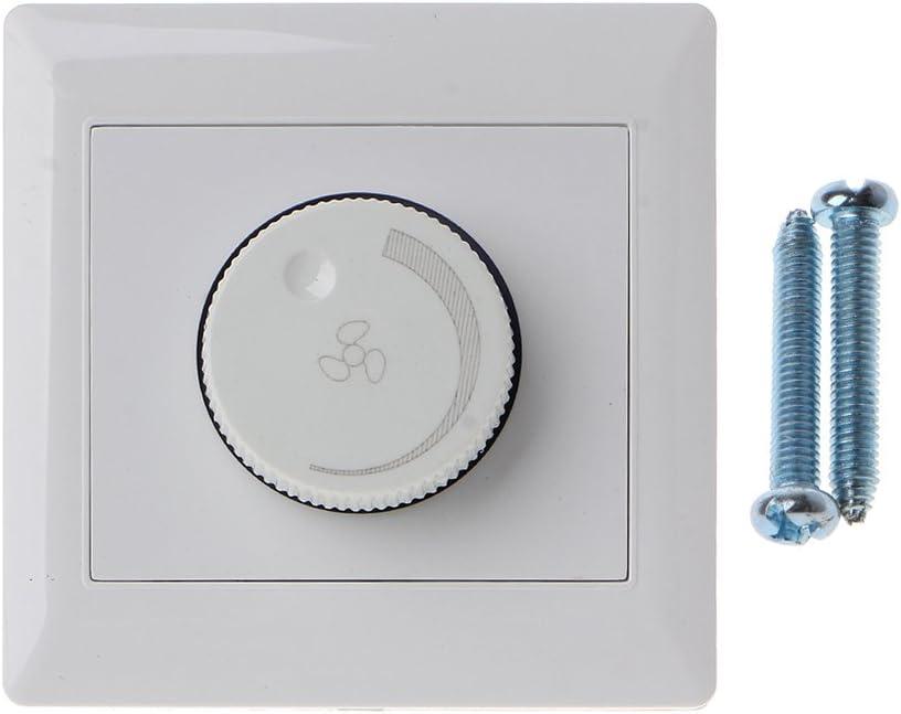 YoungerY 220V 200W Ajuste Interruptor de Control de Velocidad del Ventilador de Techo Botón de Pared Regulador del Interruptor