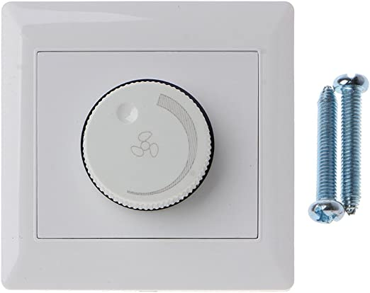 LANDUM 220V 200W Ajuste Interruptor de Control de Velocidad del Ventilador de Techo Botón de Pared Regulador del Interruptor: Amazon.es: Hogar