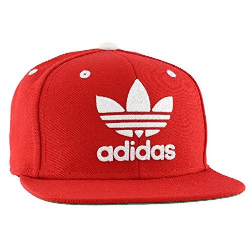Adidas Mens Men's Originals Snapback flatbrim Cap, Scarlet/White, One Size