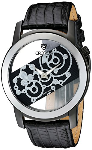 CROTON Men's CN307931BSSK Circuit Breaker Analog Display Quartz Black Watch