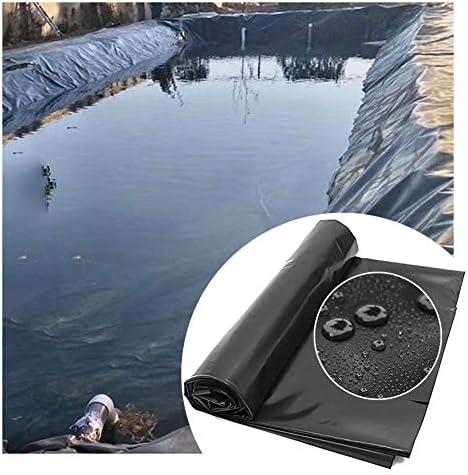 GDMING 人工池用透湿防水シート、プールライナー、ゴム製池ライナー、厚さ0.4mmの高密度PVC池スキン、防水引裂き抵抗 ために 鯉の池ウォーターガーデン噴水、カスタマイズ可能 (Color : Black, Size : 10x10m)