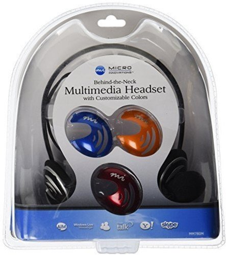 Digital Innovations Micro Innovations Behind The Neck Multimedia Headset with Customizable Colors (MM780M)