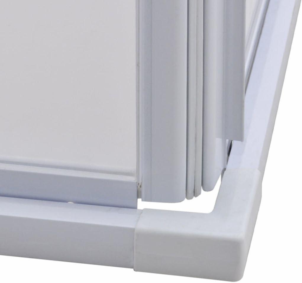 Ancho Ajustable 80 x 90 cm Blanco 185 cm yorten Marco de Cabina de Ducha Mampara de Ducha con Marco de Aluminio