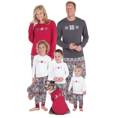pajamagram holiday nordic matching family pajamas women x small 2 4 redgray