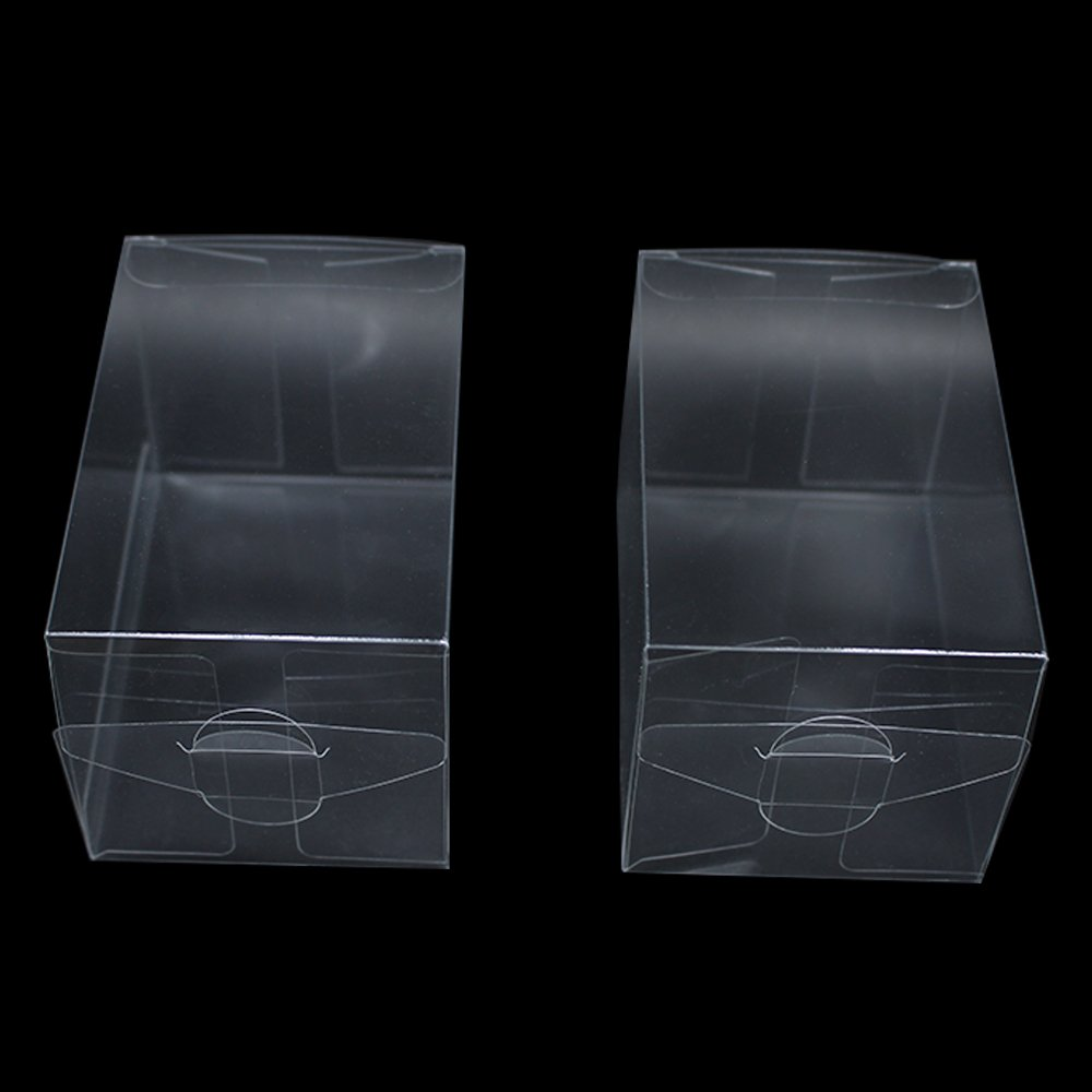 Transparent Poly PVC Retail Wholesale Cuboid Decorative Packaging Boxes Clear PVC Party Wedding Gift Present Candy Display Treat Package Box (2.4x2.4x3.5 inch(6x6x9 cm), 180 pieces) by PABCK