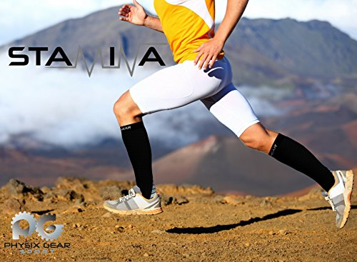 Compression Socks for Men & Women, BEST Graduated Athletic Fit for Running, Nurses, Shin Splints, Flight Travel, & Maternity Pregnancy, Boost Stamina, Circulation, & Recovery - Includes FREE EBook!