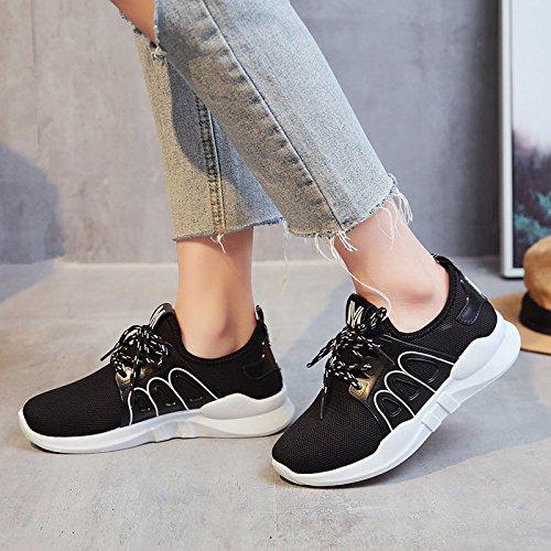 GAOLIM Primavera Zapatos Zapatos De Mujer Con Fondo Plano Solo Zapatos Zapatos Zapatos De Primavera Zapatos Zapatos Para Correr Negro
