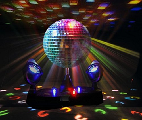 Kidsco Multi Color Led Strobe Light Mirror Disco Ball