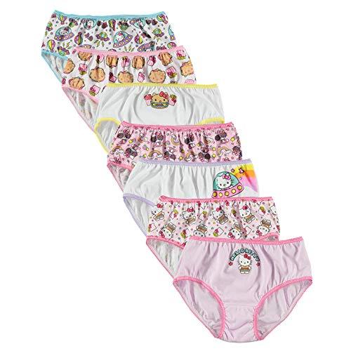 Hello Kitty Girls' Little 7pk Panties, Food, 4