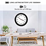 Hidden Camera Motion Activated WiFi Surveillance Wall Clock with One Year Battery Power Standby 720P Camera Lens Adjustable Live View Remote Internet Access Security WiFi Camera for Home(Video Only!)