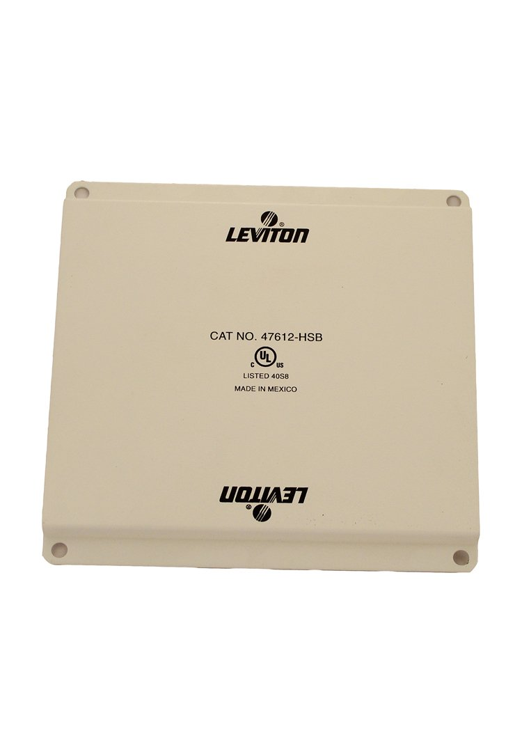 Leviton 47612-HSB Half Width Universal Security Plate with PCB Mounting Clips, White