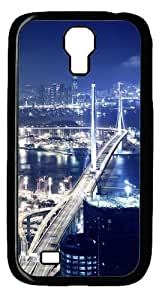 Hong Kong at night Custom Samsung Galaxy I9500/Samsung Galaxy S4 Case Cover Polycarbonate Black