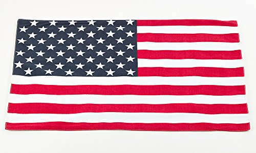 (Fennco Styles Nabru Collection American Flag Design Placemat (Set of 4))