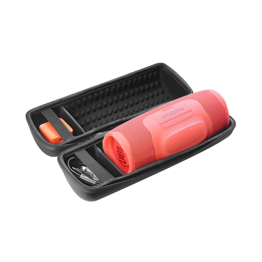 Meijunter JBL Charge 4用ソフトケースカバースリーブ - ブラック ポータブル フルプロテクション ストレージバッグ Elwsmnovcharge4-husbjunsi  Hard case for Charge 4 & charger B07LFV1GC5