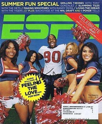 Mario Williams Signed 2006 ESPN Full Magazine Bills Texans