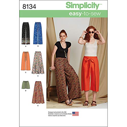 Simplicity 8134 Easy to Sew Women's Pants and Shorts Sewing Patterns, Sizes 6-14