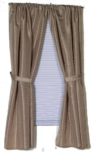 carnation home fashions lauren dobby fabric bathroom window curtain 34inch by 54inch linen