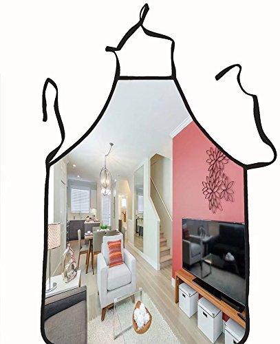 chanrancase Tailored delantal diseño de interiores habitación de niños, unisex de cocina Delantal, cuello