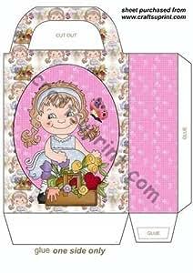Dulce de la muchacha de flor bolsa de regalo 1 por Sharon Poore