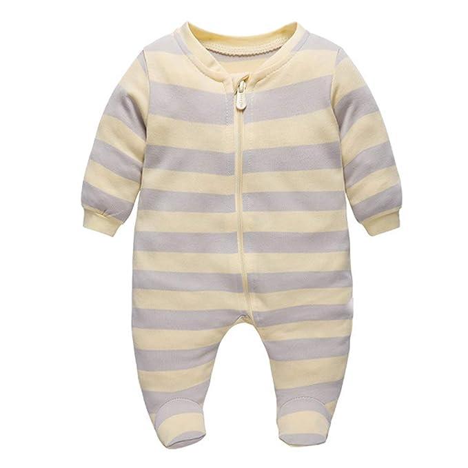 Bebé Pijama Mamelucos de Algodón Peleles Niños Niñas Monos de Manga Larga: Amazon.es: Ropa y accesorios