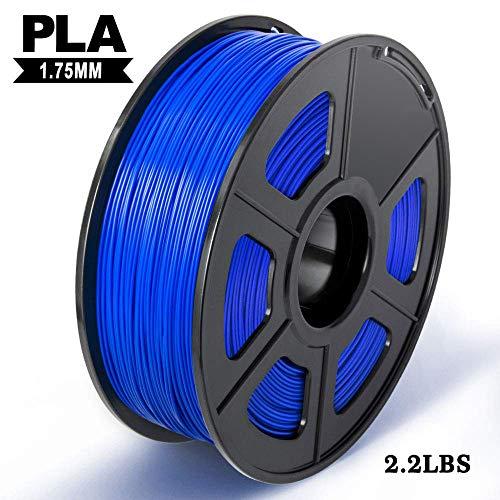 3D Printer PLA Filament,PLA Filament 1.75mm 1KG Spool,Dimensional Accuracy +/- 0.02 mm,Enotepad PLA Filament for Most 3D Printer,Blue