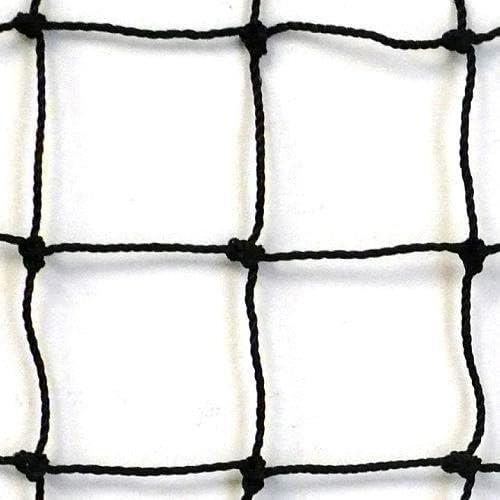 "Soccer Heavy Duty 9/' x 6/' Black Square Nylon Netting  4/"" Mesh #36 Nylon Net"