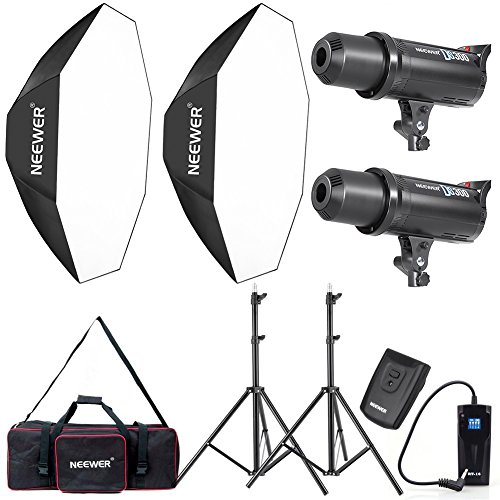 Neewer 600W Photo Studio Monolight Strobe Flash Light and Softbox Lighting Kit with Light Stand, RT-16 Wireless Trigger and Carrying Bag for Video Shooting, Location and Portrait Photography (DS300) by Neewer