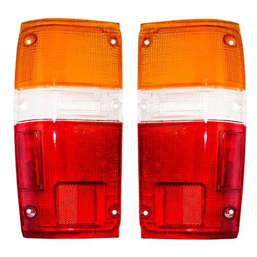 (Driver and Passenger Taillights Tail Lamps Lens Replacement for Toyota Pickup Truck SUV 8156189133 8155189133)