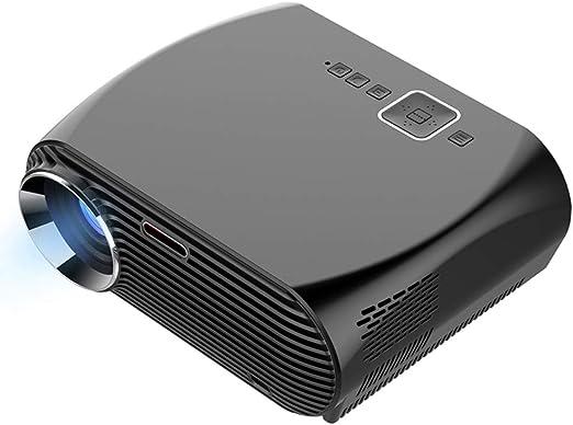 AXDNH Proyector Minl, 1080p HD Proyector de Video Proyección máxima de 280 Pulgadas Tamaño LED Sin Pantalla TV Compatible AV/VGASD/HDMI Proyector portátil de Cine en casa: Amazon.es: Hogar