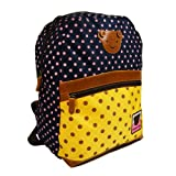 My Little Polka-dot Backpack for Kids Toddlers - Blue/Yellow