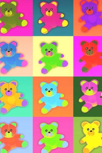 Cute Colorful Teddy Bears Journal: 150 Page Lined Notebook/Diary