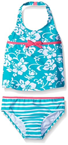 Tommy Bahama Little Girls' Two Piece Floral Tankini, Mint, 6