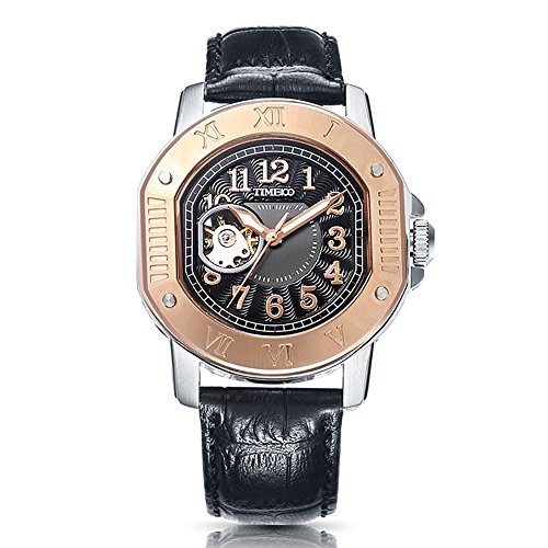 Time100 Classic Business Genuine Leather Band Automatic Mechanical Men's Watch #W60054G.01A