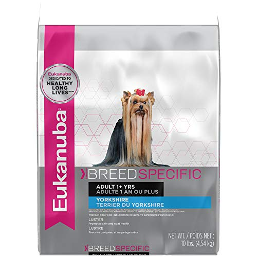 - Eukanuba Breed Specific Adult Yorkshire Terrier Dog Food 10 Pounds