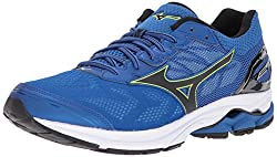 Mizuno Men's Wave Rider 21 Running Shoe, Classic Blueblack, 13 D Us