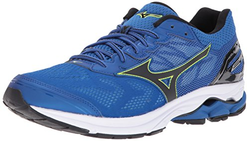 Mizuno Wave Rider 21 Men's Running Shoes, Classic Blue/Black, 11.5 D US