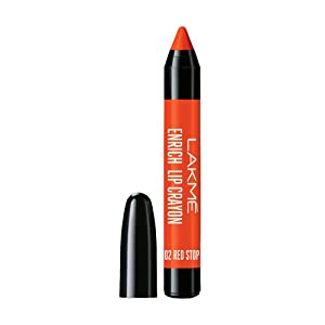 Lakme Enrich Lip Crayon, Red Stop, 2.2 g